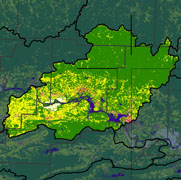 Watershed Land Use Map - Dardanelle Reservoir