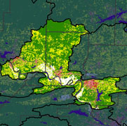 Watershed Land Use Map - Lake Conway- Point Remove