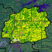 Watershed Land Use Map - Cadron Creek